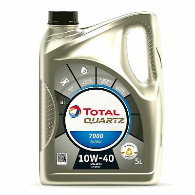 OLIO MOTORE LUBRIFICANTE PER AUTO TOTAL QUARTZ 10W40 5L 7000 ENERGY ACEA A3/B4