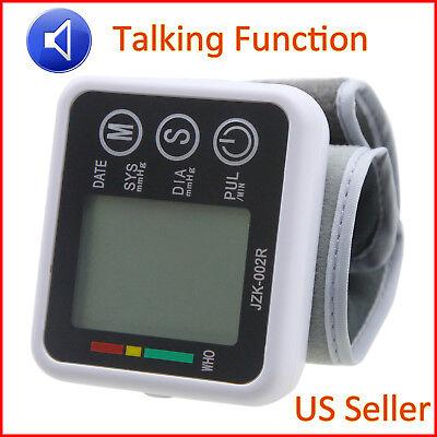 Blood Pressure Monitor Digital Wrist Cuff Automatic Bp Measure Heart Rate Pulse