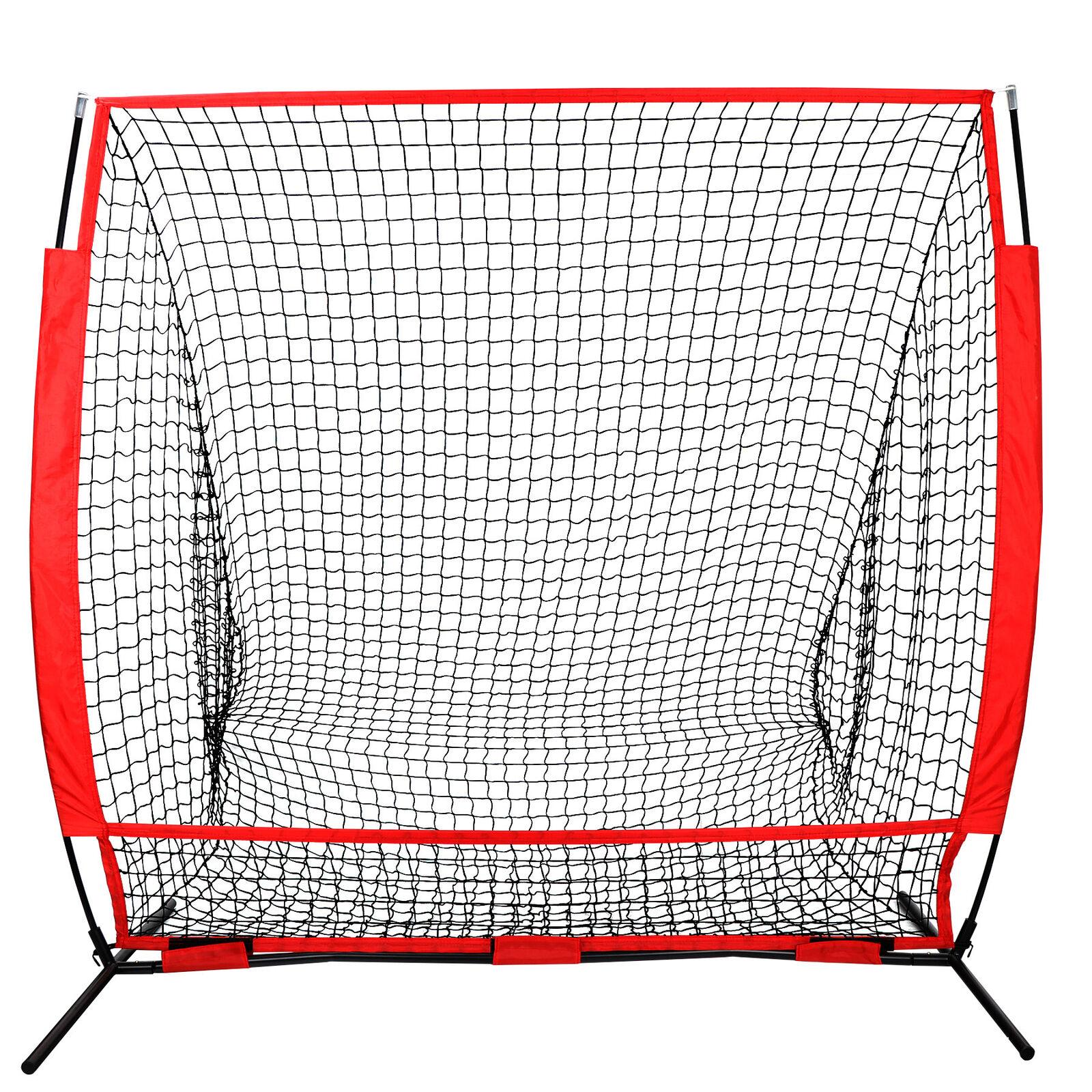 5 x 5′ Baseball Softball Net Practice Hitting Pitching Batting & Catching W/ Bag Baseball & Softball