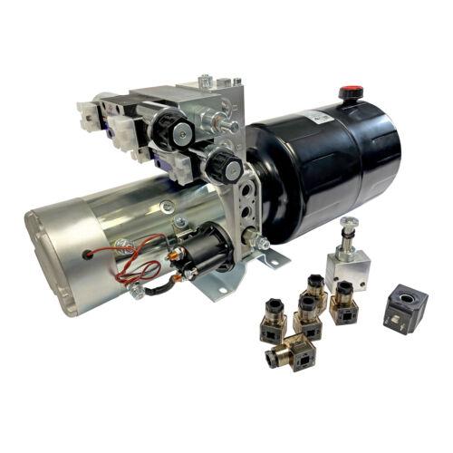 8 qts steel reservoir snow plow power unit 24V DC double acting HPU-SP-24VDC