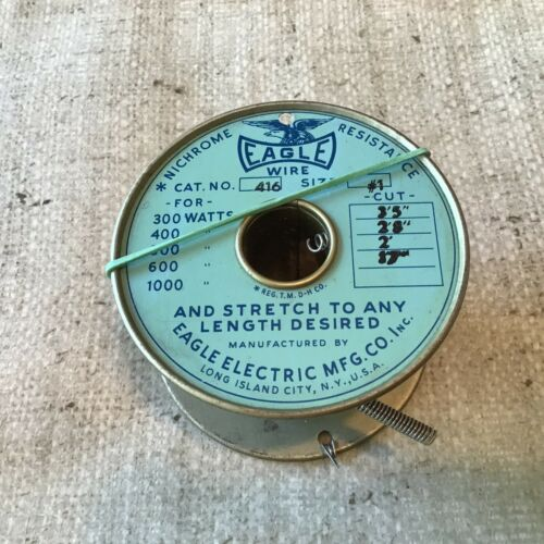 EAGLE COILED RESISTANCE WIRE,#416 Size #1,size your cut for desired watts 11FT