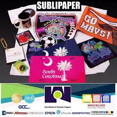 100sh 8.5x11 Dye Sublimation Paper Heat Press Transfer Paper Print T-shirt