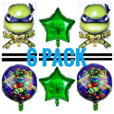 Teenage Mutant Ninja turtle party foil balloons TMNT birthday party](Ninja Turtle Birthday Party)
