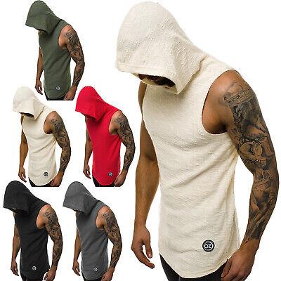 Tanktop T-Shirt Muskelshirt Sport Fitness Motiv Kapuze Herren OZONEE 9848 MIX