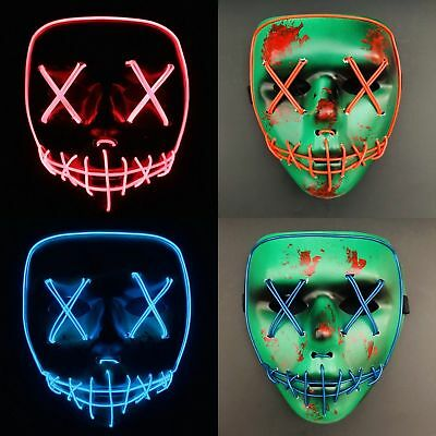 The Purge Smile Mask (The Purge Movie Light Up Flash LED Wire
