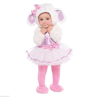 süsses Lamm Kostüm Gr. 80 86  Osterlamm Baby Karneval Mädchen Kinder - Süßes Mädchen Kostüm