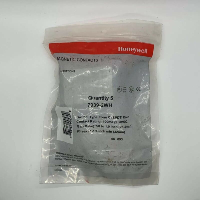 Honeywell Magnetic Contacts Quantity 5 Model Number 7939-2WH New