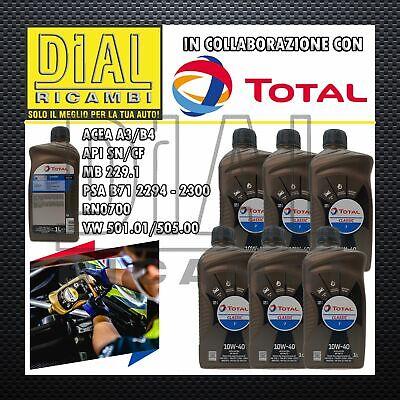 6LT OLIO MOTORE TOTAL CLASSIC 7 10W-40 VW 501.01 VW 505.00 RENAULT RN0700 PSA