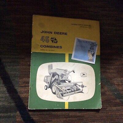 John Deere 45 Hi Lo Combine Operators Manual Omh90584
