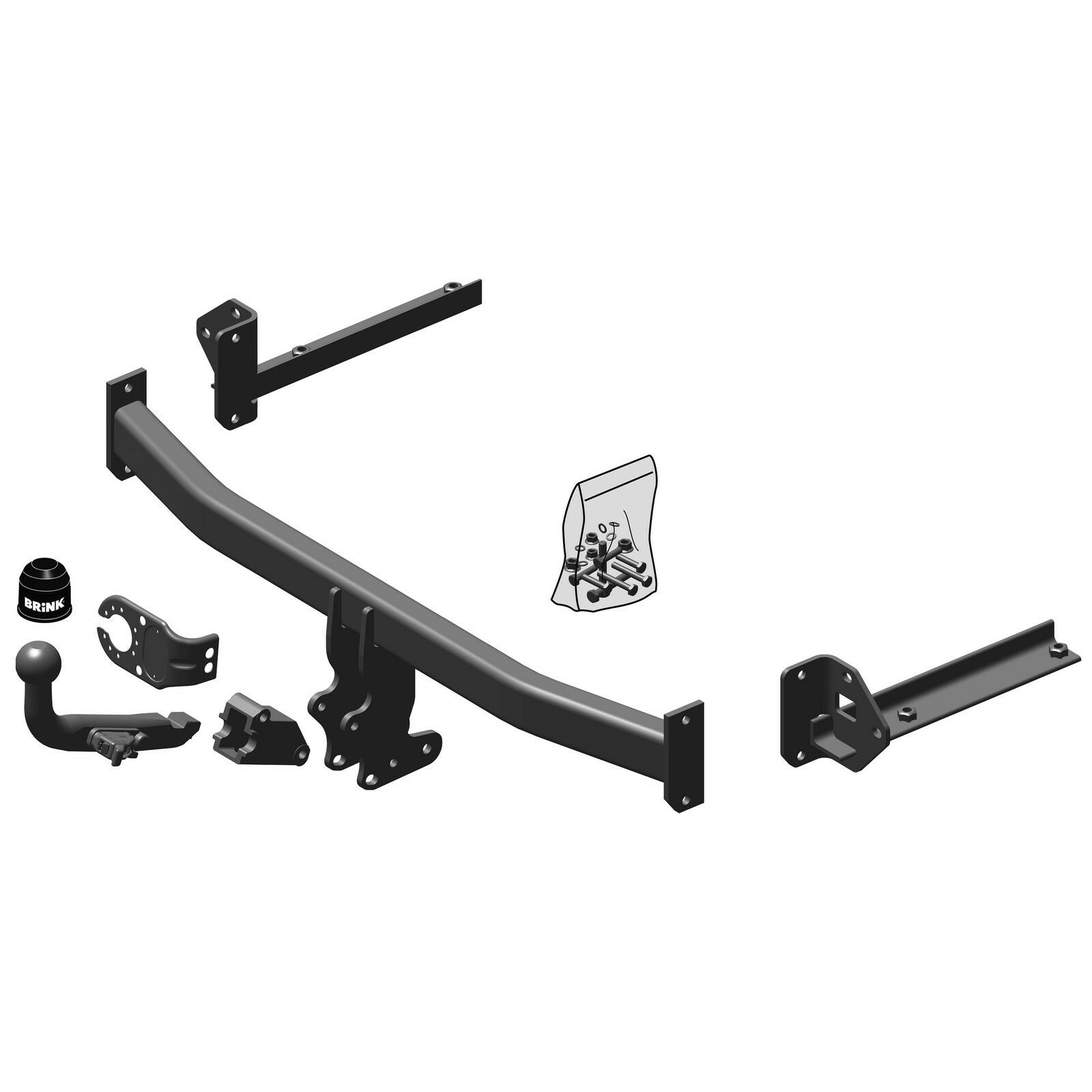 Brink Towbar For Honda Civic 5 Door Hatch Only 2005 2012 Iveco Marine Wiring Diagram Detachable Tow Bar