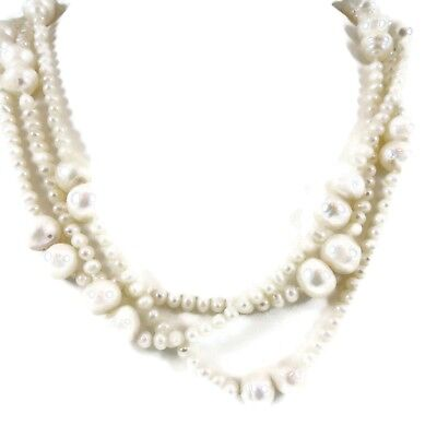 """62"""" WHITE FRESHWATER PEARL NECKLACE - RETAIL $500"""