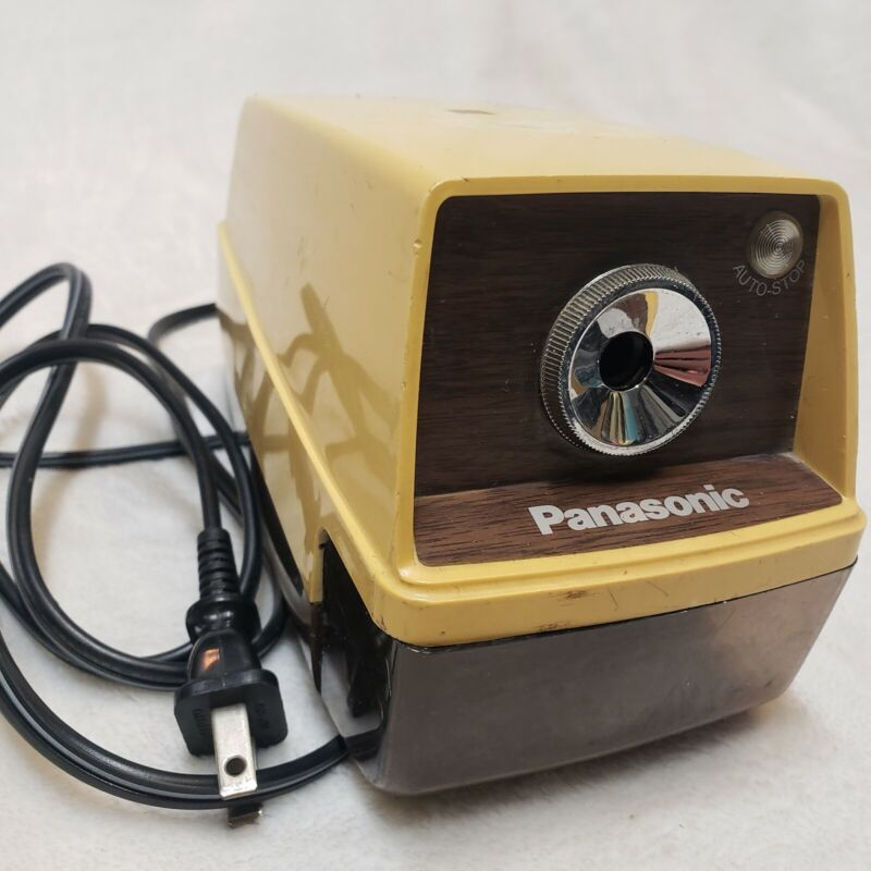 Vtg Panasonic KP-33 Electric Pencil Sharpener AUTO STOP - Japan - Works Great!