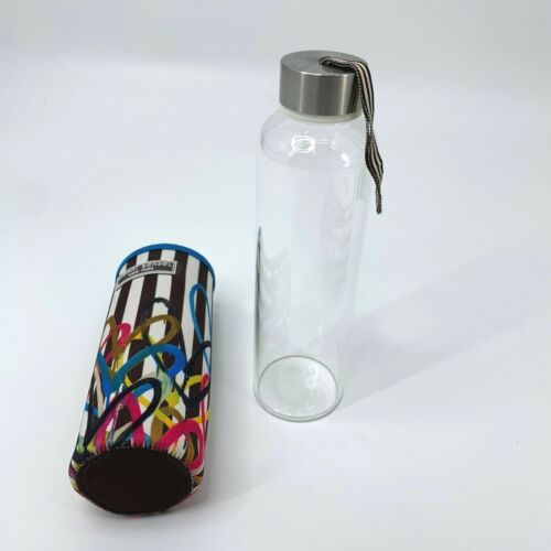 Henri Bendel New York Glass Bottle Water Removable Multicolor Neoprene Case Rare