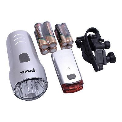 Profex LED Fahrrad Licht Set Beleuchtung Front Rück Lampe für Vorne Hinten