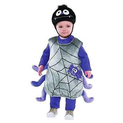 Toddlers Incy Wincy Spider Costume Cute Baby Girls Boys Halloween Fancy Dress ()