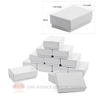 12 Gloss White Cotton Filled Gift Boxes 1 78 X 1 14 Charm Ring Jewelry Box