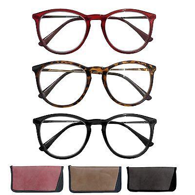 Große Lesebrille Nerdbrille Lesehilfe Inkl. Etui Sehhilfe BWD Schwarz Braun Rot ()