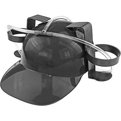 Beer & Soda Guzzler Helmet Drinking Hat, Black - Party Novelty Gag Gift NEW!