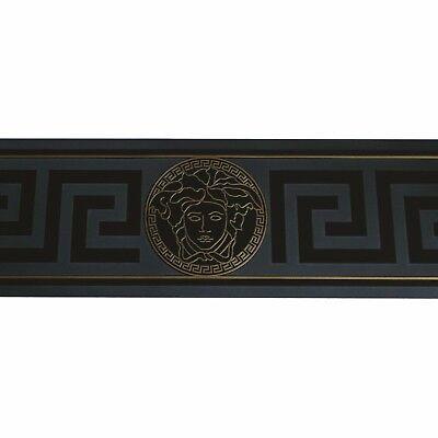 Versace Ribete/Cenefa AS 93522-4 Negro Meandro/Meandro Ribete Papel Pintado 5M M