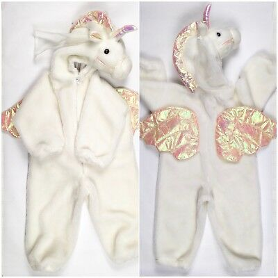Unicorn Costume 3T 4T 3 4 Kids Girl's Halloween White Pegasus](White Unicorn Costume)