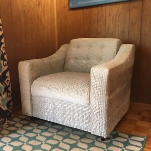 Vintage MCM Armchair with Brand New Upholstery