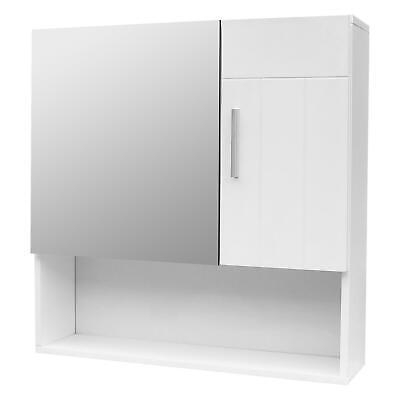 Wall Medicine Bath Storage Cabinet Shelves Organizer Bathroom Cabinet w/ Mirror