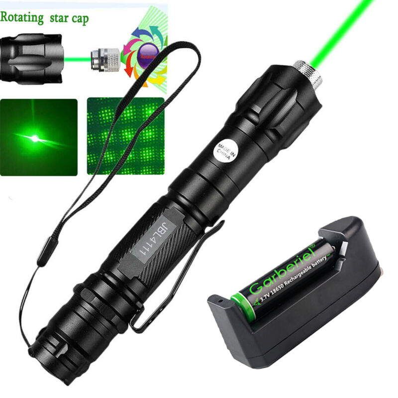 20Miles 532nm Green Laser Pointer Pen Visible Beam Light +18650 Battery +Charger