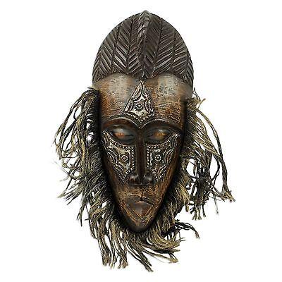 African Wood Wall Mask Hand Crafted Original 'Frafra Dancer' NOVICA West Africa