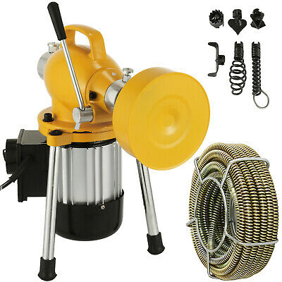 34-4dia Sectional Drain Cleaner 400w Pipe Sewer Cleaning Machine W Cutters