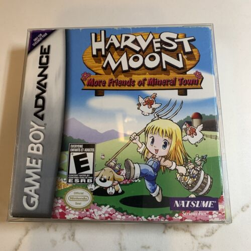 Harvest Moon More Friends Of Mineral Town GameBoy Advance GBA Complete CIB VG - $175.00