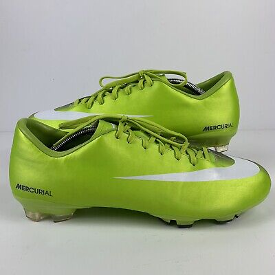 86fee6ad92ec Nike Mens Rare Mercurial Victory FG 396121-311 Green Soccer Cleats Boots  Size 12