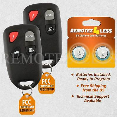 Replacement for 2003 2004 2005 Mazda 6 Keyless Entry Remote Car Key Fob Pair
