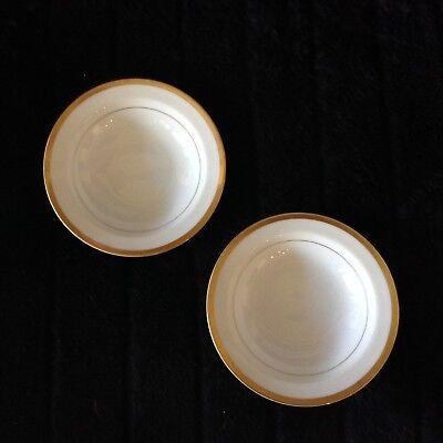 Noritake China GOLDCROFT 4983 Rim Fruit/ Dessert or Sauce Bowl ~ Set of 2