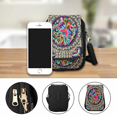 Wallet Purse With Strap (Women's Lovely Mini Cross-Body Cell Phone Shoulder Strap Wallet Pouch Bag)