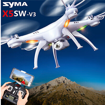 Syma X5SW-V3 FPV Explorer 2.4G RC Headless Quadcopter Drone HD Wifi Camera White