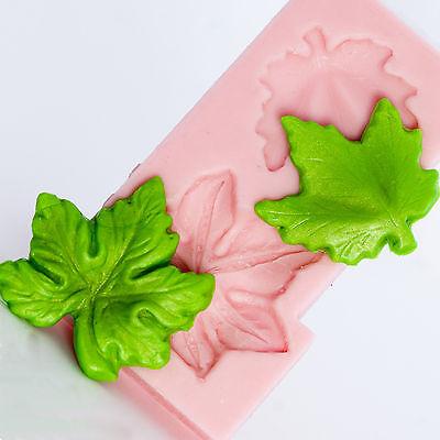 Maple leaf silicone mold - cabochon mold - candy mold - isomalt mold  (702)