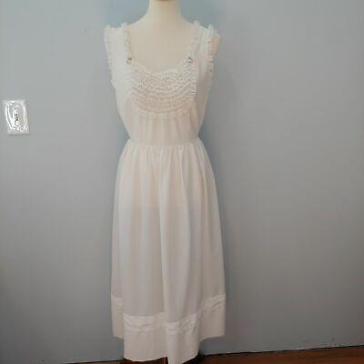 Vintage Barbizon Full Slip, Lace, White , 16