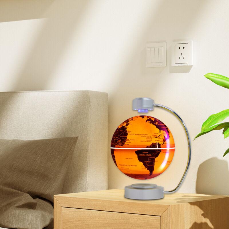 "8"" Floating Magnetic Globe Levitation Rotating Earth Gifts w/LED Light US Plug"