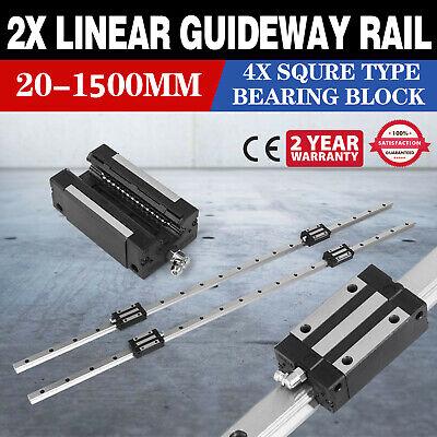 Hgh20-1500mm 2x Linear Rail Set 4x Bearing Block Routers Cnc Set High Rigidity