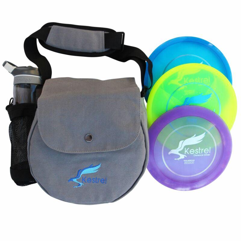 Kestrel Disc Golf Pro Set | 3 Disc Pro Pack Bundle + Bag | Disc Golf Set | Inclu