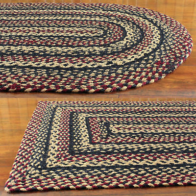 Primitive Braided Area Rugs Country Oval Rectangle 20x30