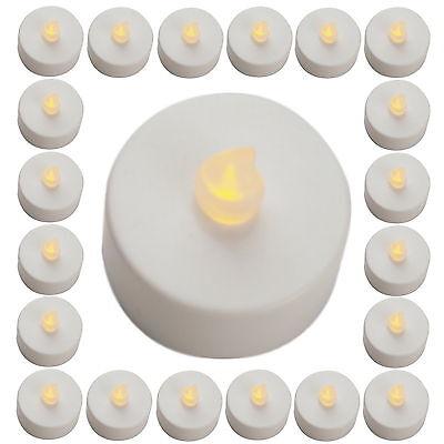 2 - 96 Stück Teelicht LED flackernde Teelichter Tee Lichter elekt. Kerzen LED