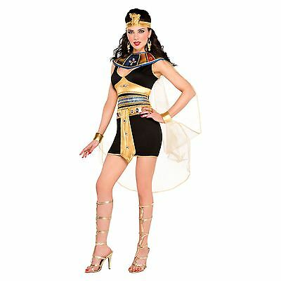 Adults Cleopatra Beauty Costume Queen Fancy Dress Ladies Outfit New Sexy Short