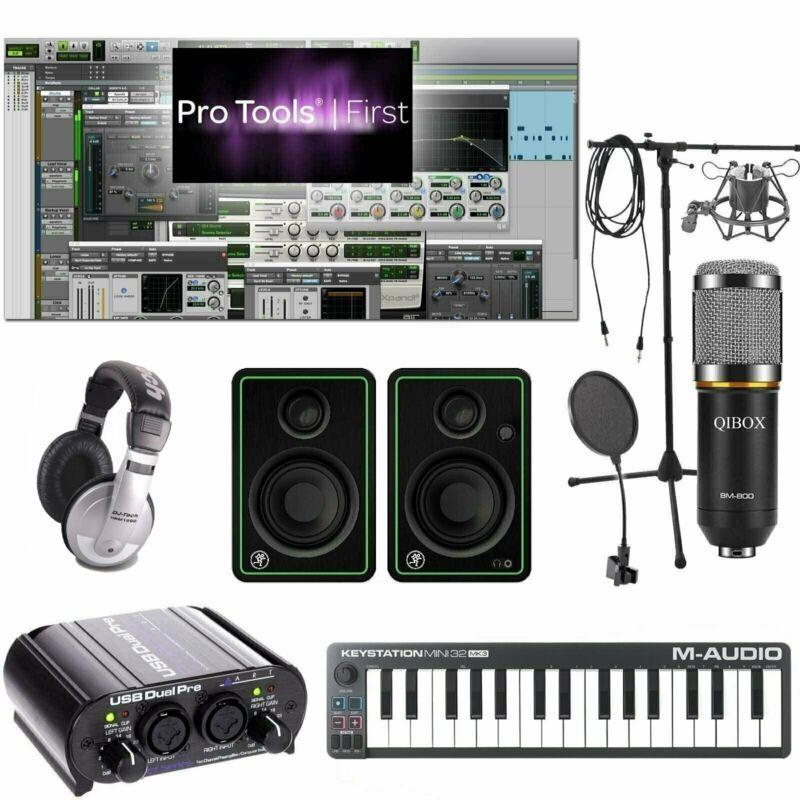 Home Recording Pro Tools Bundle Studio Package Mini 32 Mackie Art Software!