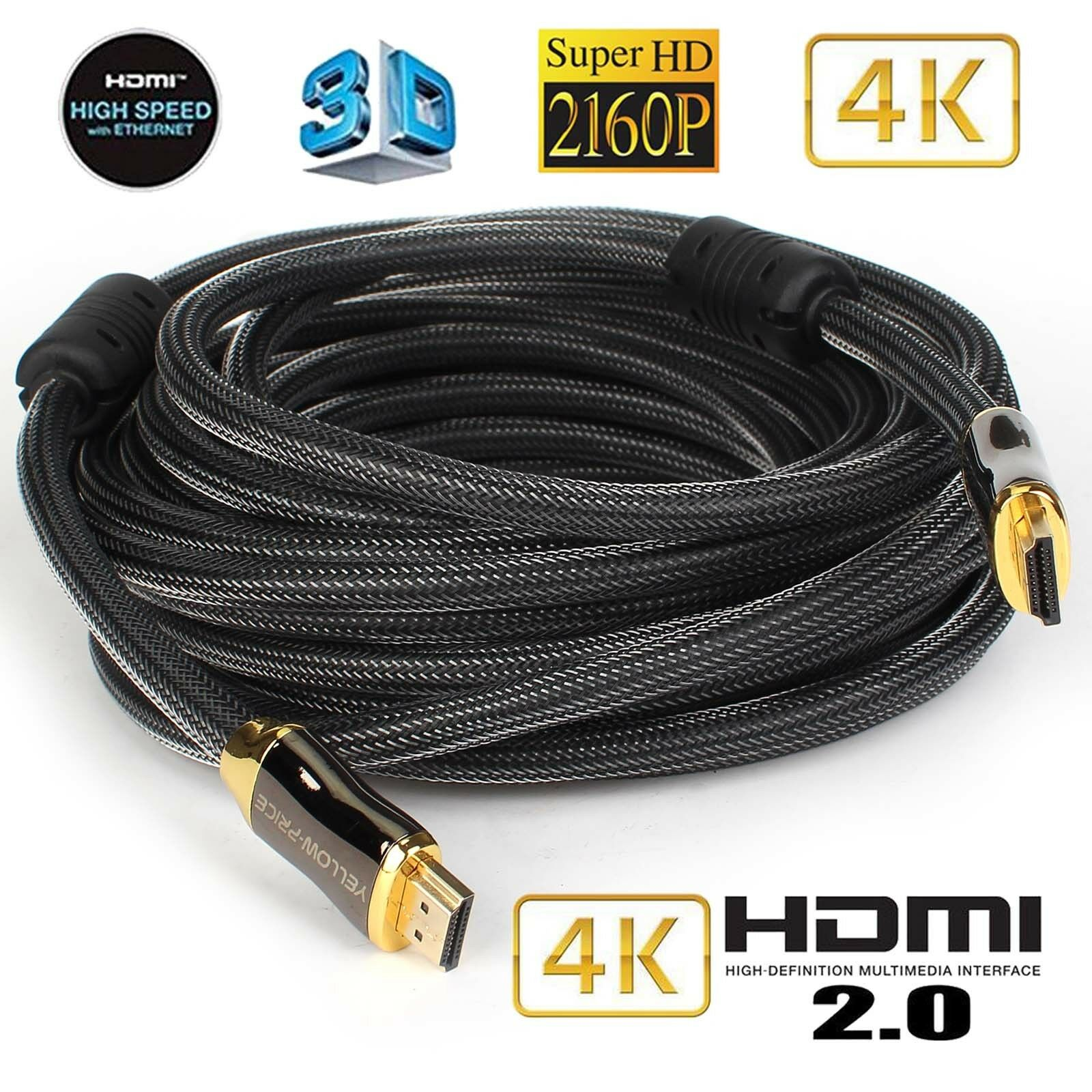 200ft Ultra HIGH SPEED HDMI 18Gb Fiber Optic//Hybrid Cable 4Kx2K//60Hz