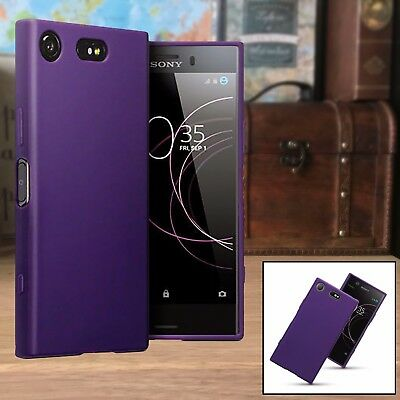 Xperia XZ1 Case Enhanced Impact Absorption Composite Material Purple (Absorption Material)