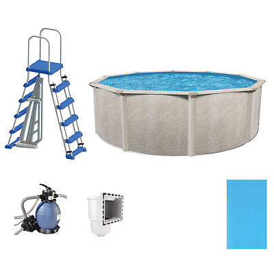 """Phoenix 15' x 52"""" Disposition Above Ground Outdoor Swimming Pool w/ Pump & Ladder Kit"""