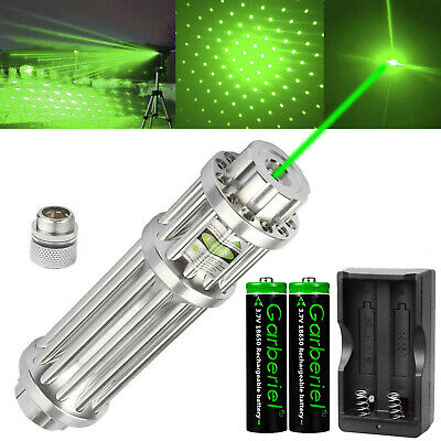532nm Green Laser Pointer Lazer Pen Zoomable Visible Light Beam 18650 Charger