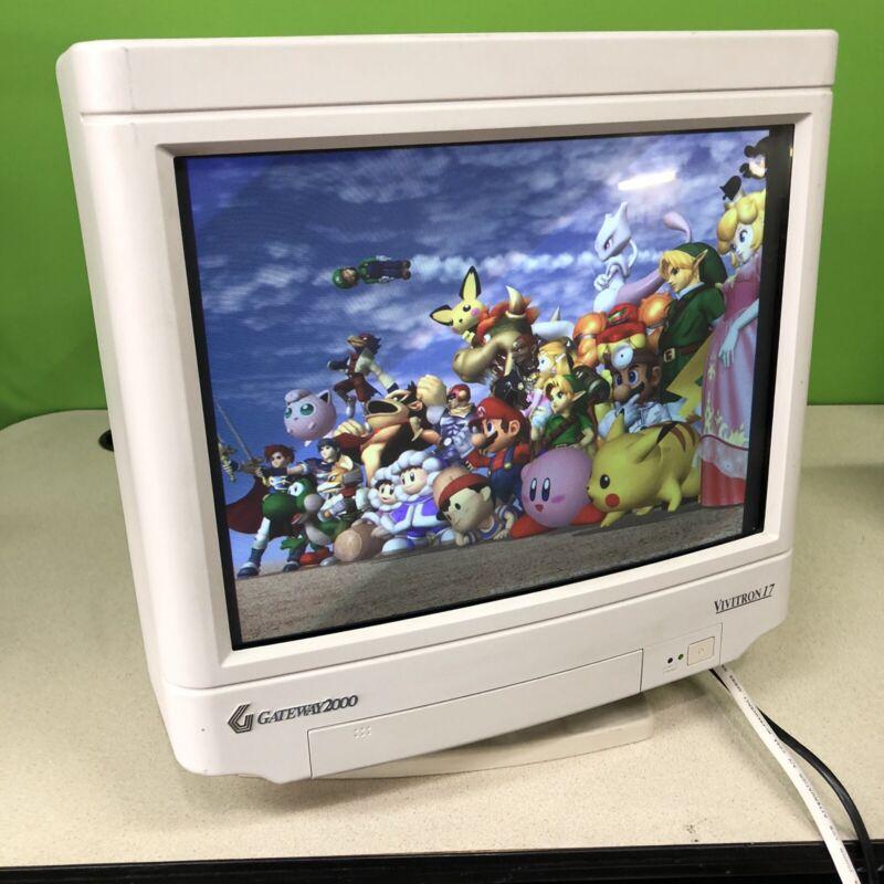 "Gateway 2000 Vivitron 17"" CRT VGA Monitor Retro Gaming 1280x1024 Sony Trinitron"