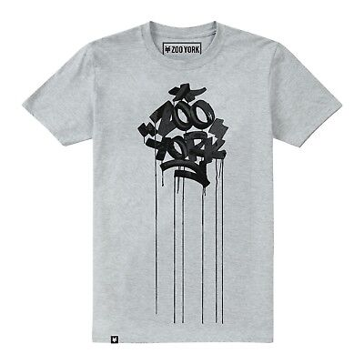 Mens Zoo York - Drips - T-Shirt - Sport Grey